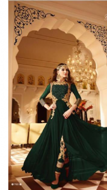 Green Suit With Embellished Churidar